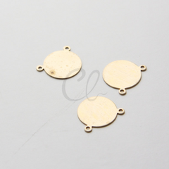 Metal Blank-Stamp on - Metal stamping - Round with Loops 16mm