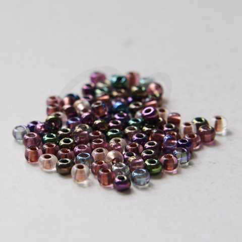 25 Grams Czech Rocailles Preciosa 6/0 Seed Beads - Metallic Iridescent Multi - Size 6