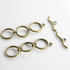 Base Metal Toggle Clasps 3 Ring (12135Y)