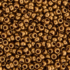 Japanese Miyuki Seed Bead - Light Bronze Opaque Metallic
