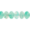 100 Pieces Czech Glass Donut Beads - MINT GREEN 8mm (PG9700010)