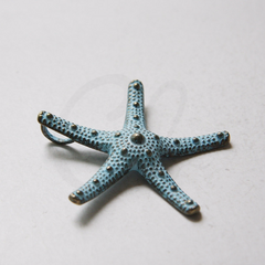 2 Pieces Patina Tone Base Metal Pendants - Starfish 57.4x57.4mm (19918Y-N-263)