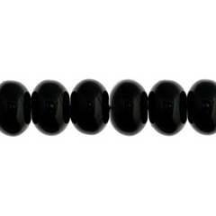100 Pieces Czech Glass Donut Beads - Black 8mm (PG9700026)