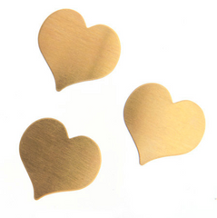 Metal Blank-Stamp on - Metal stamping - Heart 22x22mm (4104)