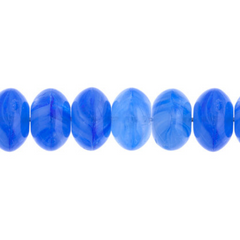 100 Pieces Czech Glass Donut Beads - BLUE 8mm (PG9700032)