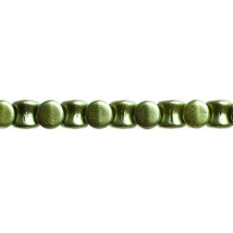 44 Pieces Czech Glass Pellet Beads - Opaque Pearl Pastels Sage Green 4x6mm (PG96456)