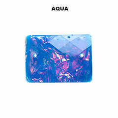 Rectangle Resin Sew-On Dichroic Style - 15x21mm