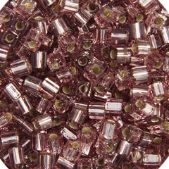 Japanese Miyuki Cube Bead - Amethyst Smoky Transparent Silver Lined 4mm - 20 Grams