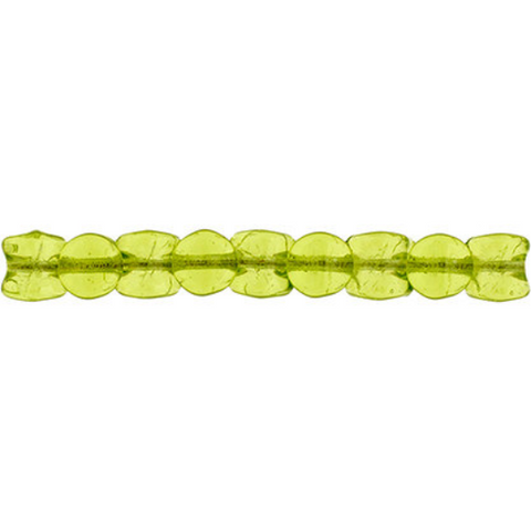 44 Pieces Czech Glass Pellet Beads - Transparent Light Green 4x6mm (PG96406)