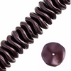 12pcs Czech Preciosa Ripple Beads - Waved Disk - Pearl Pastels Chocolatebrown 12mm (62S8)