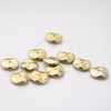 12pcs Czech Preciosa Ripple Beads - Waved Disk - Gold Metallic Full Coated 12mm (05S5)