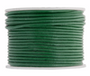 Genuine Leather Cord - Round - Green Turquoise