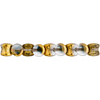 44 Pieces Czech Glass Pellet Beads - Transparent Crystal Aurum Half Coated 4x6mm (PG96423)