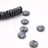 12pcs Czech Preciosa Ripple Beads - Waved Disk - Black Opaque Travertine 12mm (14S5)