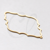 Brass Base Charm - Cloud - Outline - 52x31mm (3121C)