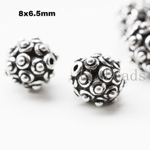 Sterling Silver Spike Spacer Beads