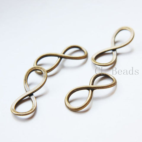 Base Metal Links-Infinity charm 30x12mm (30148Y)