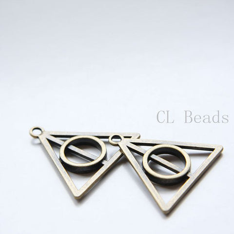 Base Metal Charms-Deathly Hallows Symbol 32x29mm (30150Y)