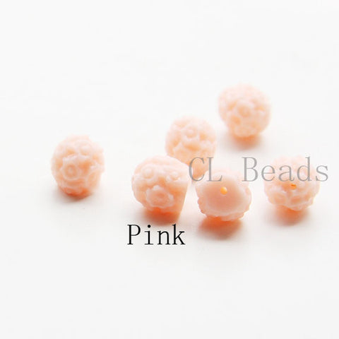 Acrylic Cabochons with Hole - Flower 8mm (38F)