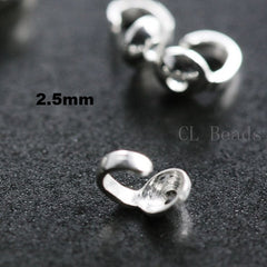 Sterling Silver Bead Tips Knot Covers