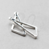 Base Triangle Charm - Geometry - 27x9mm (3772C)