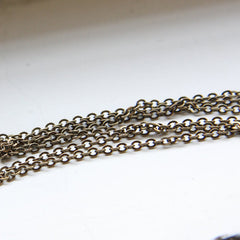 Brass Base Chains-Flat Oval 2.7x2.0mm (412C)