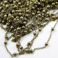 Brass Base Chain-Ball and Oval (415C02)