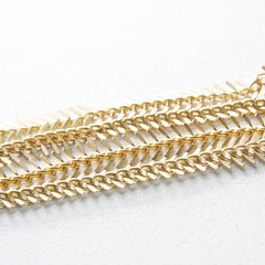 Brass Base Chain-Fish Bone 10-11mm (416C)
