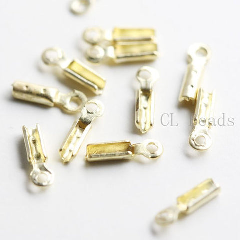 Brass Base Leather End - Bead Tip - Leather Crimp 0.8x4mm (435C)
