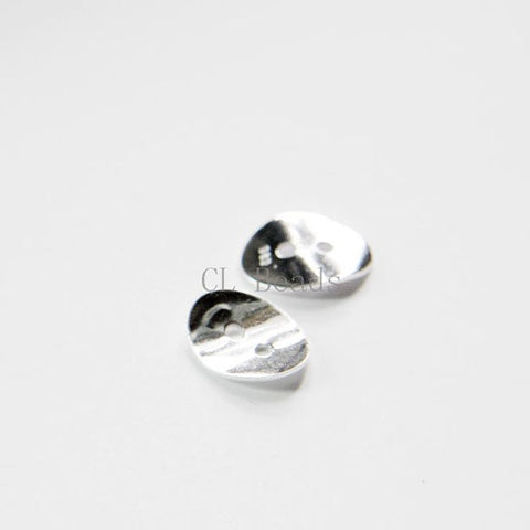 Sterling Silver Links - Curved Button