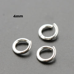 OPENED Sterling Silver Jump Rings (18 Gauge)