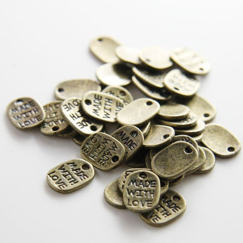 Base Metal Charms-Tag 11x8mm (5194Y)