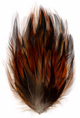 One Package Hackle Feather Pad - Dark Natural 18x10cm (1015H)