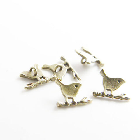 Base Metal Charm - Bird 11x9mm (7602Z)