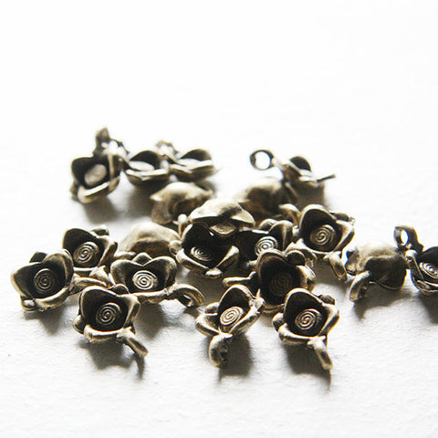 Base Metal Charm- Flower 16x16mm (8061Y)
