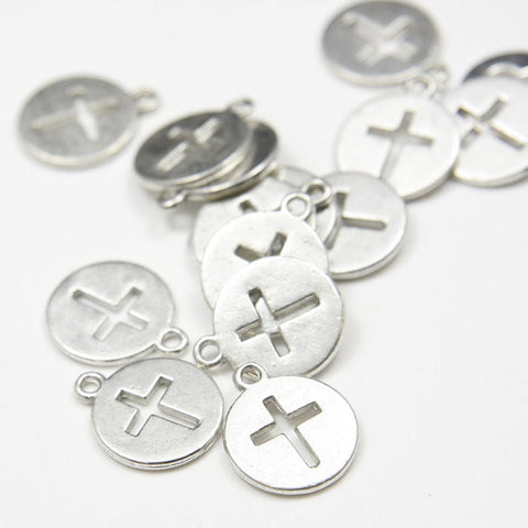 Base Metal Charms-Cross 14mm (9292Y)