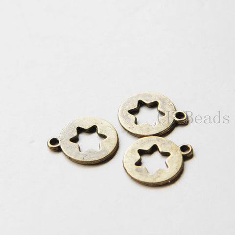 Base Metal Charms-Star 14mm (9293Y)