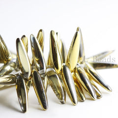 Czech Glass Thorn - Spikes - Crystal Aurum Transparent Half coated 5x16mm (96323)