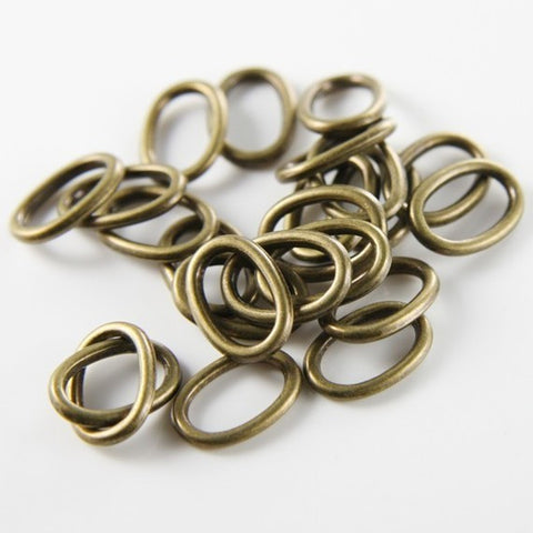 Base Metal Rings-Oval 14x10mm (9833Y)
