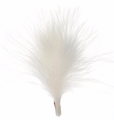 3 Pieces Real Feather Hat Trim - White 10cm (3002H)