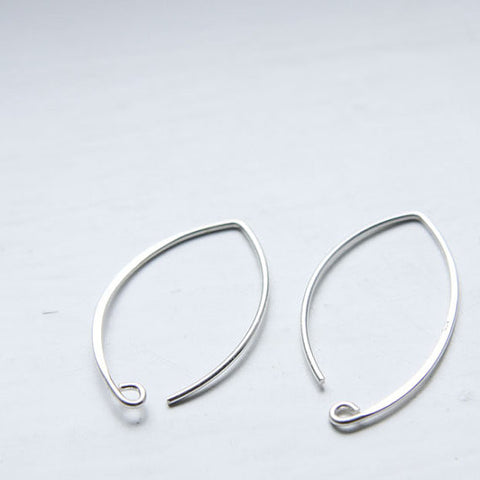 Sterling Silver Earring Hooks-34x19mm