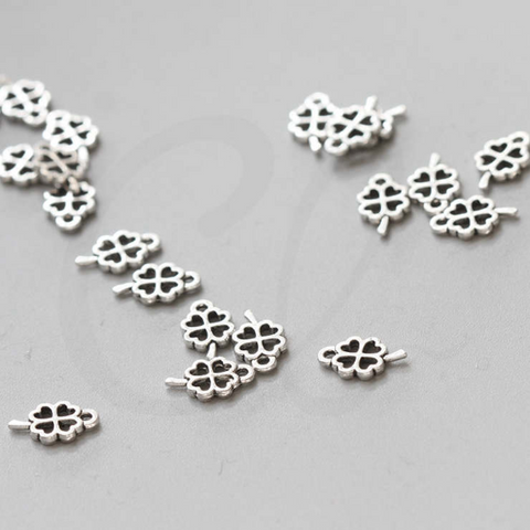 Base Metal Charms - Leaf - Clover 10.5x6.5mm (36287Y)