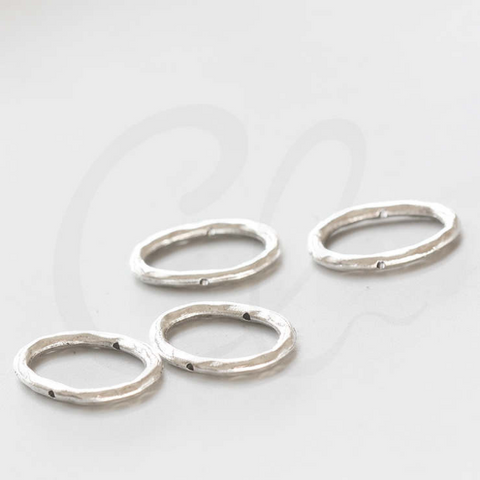 Base Metal Bead Frame - Oval 25x19.5mm (4049X)