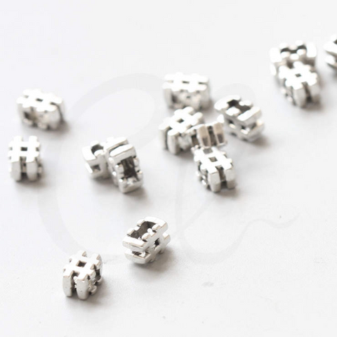 Base Metal Spacers- Hashtag - Pound Sign 10x5mm (39036Y)