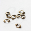 Base Metal Bead Frame - Two Holes - Cut Oval 15x11mm (35836Y)