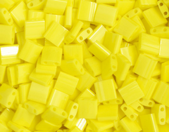 Japanese Miyuki Tila Beads - Lemon Yellow Opaque