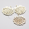 Brass Base Charm - Filigree Flower 28x26mm (9676Z)