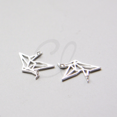 Brass Base Charm - Origami Crane 17x12mm (3055C)