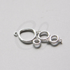 Brass Base Charm - Link - Rings 32x13.5mm (10519Z)