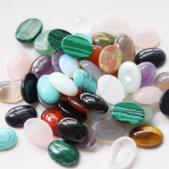 Natural Mixed Semi-Precious Stone Cabochons - Oval